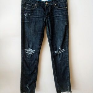 Paige Skyline Ankle Denim Jeans Size 28